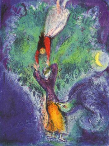 Así que se bajó del árbol / Marc Chagall